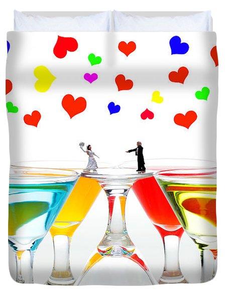 Loving You My Darling II Duvet Cover by Paul Ge