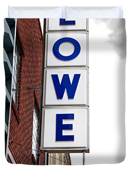 Lowe Drug Store Sign Color Duvet Cover by Andee Design