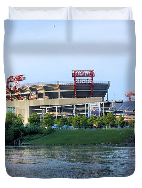 Lp Field Nashville Tennessee Duvet Cover by Kristin Elmquist