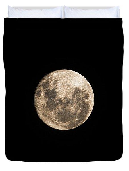 Lunar Perigee Duvet Cover by Andrew Paranavitana