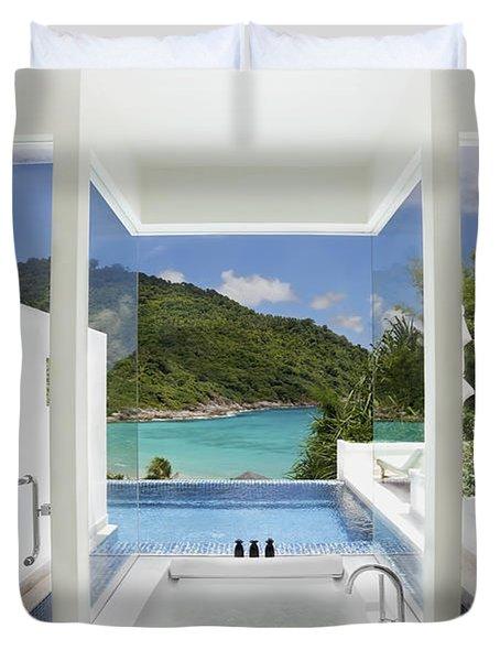 luxury bathroom  Duvet Cover by Setsiri Silapasuwanchai
