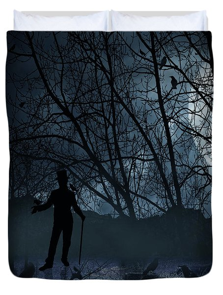 Macabre Duvet Cover by Lourry Legarde