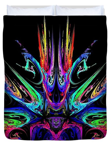 Magic Fire Duvet Cover by Klara Acel