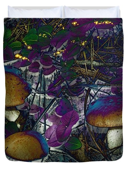 Magic Mushrooms Duvet Cover by Barbara S Nickerson