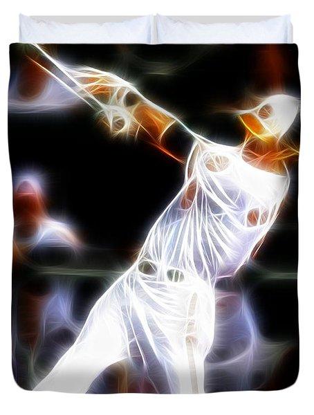 Magical Oriole Duvet Cover by Paul Van Scott