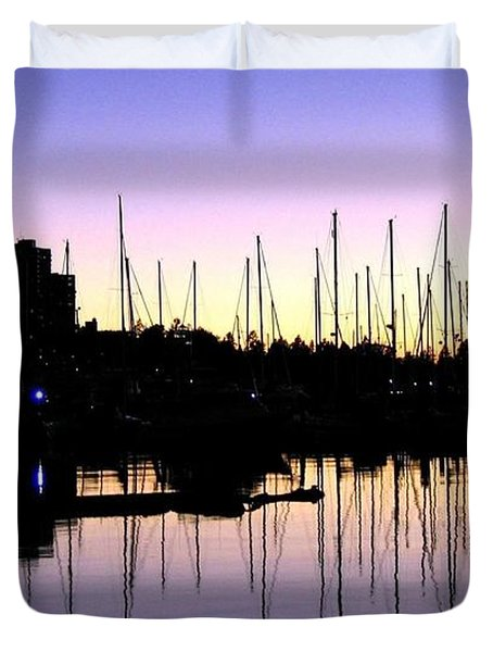 Magnificent Vancouver Sunset Duvet Cover by Will Borden
