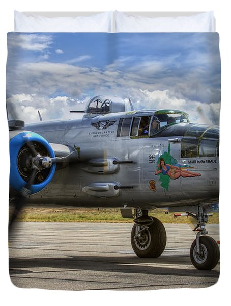 Maid In The Shade Duvet Cover by Brad Granger