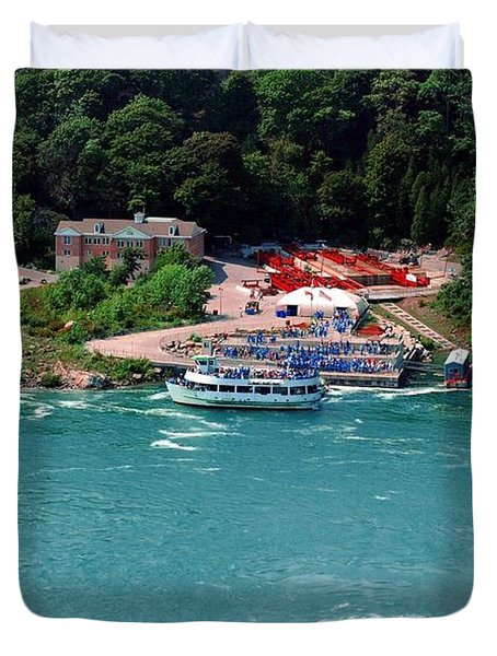 Maid Of The Mist Duvet Cover by Kathleen Struckle