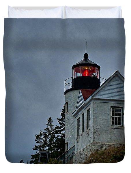 Maine Lighthouse Duvet Cover by John Greim