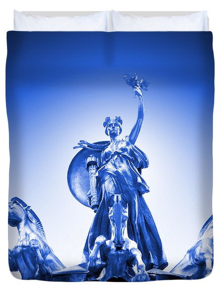 Maine Monument  In Blue Duvet Cover by Mike McGlothlen