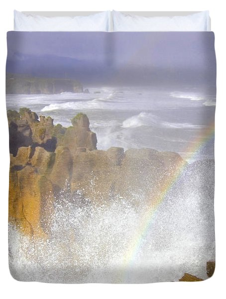 Making Miracles Duvet Cover by Mike  Dawson