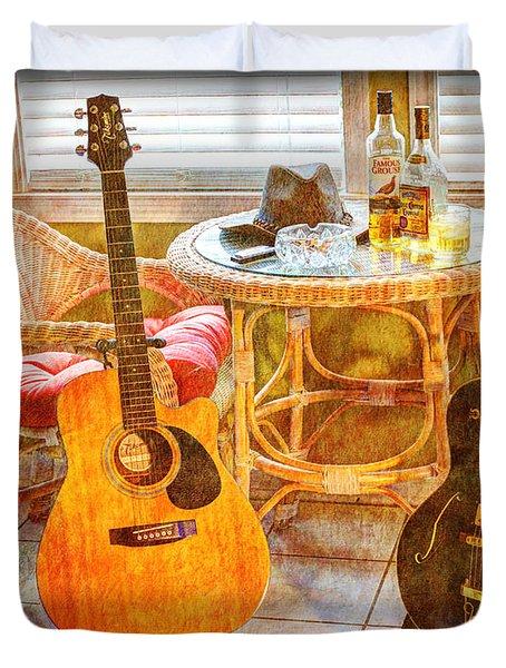 Making Music 004 Duvet Cover by Barry Jones