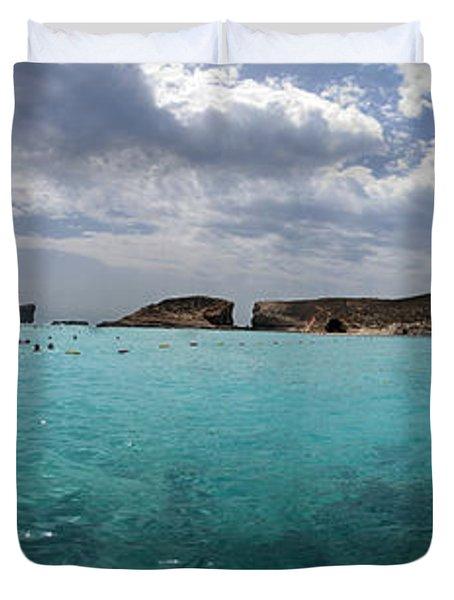 Malta Mediterranean Beach Duvet Cover by Guy Viner