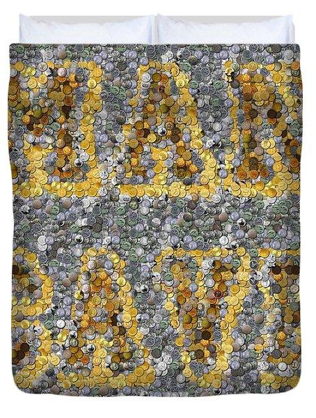 Man Cave Coin Mosaic Duvet Cover by Paul Van Scott