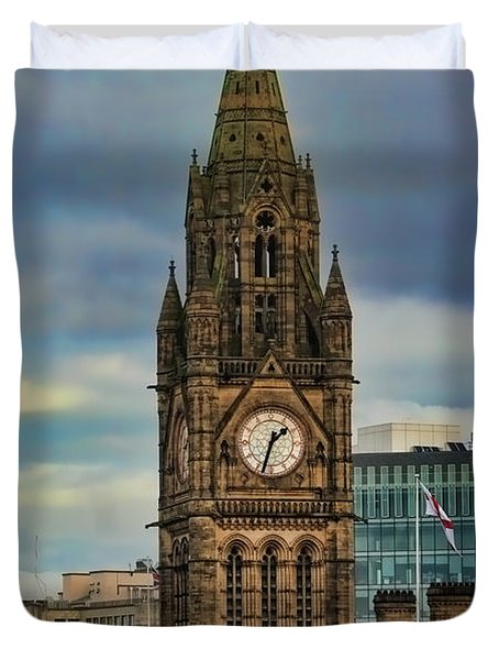 Manchester Town Hall Duvet Cover by Heather Applegate