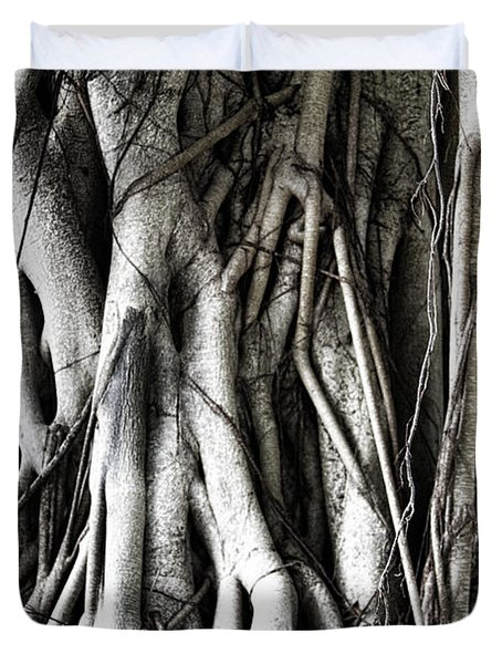 Mangrove Tentacles  Duvet Cover by Douglas Barnard