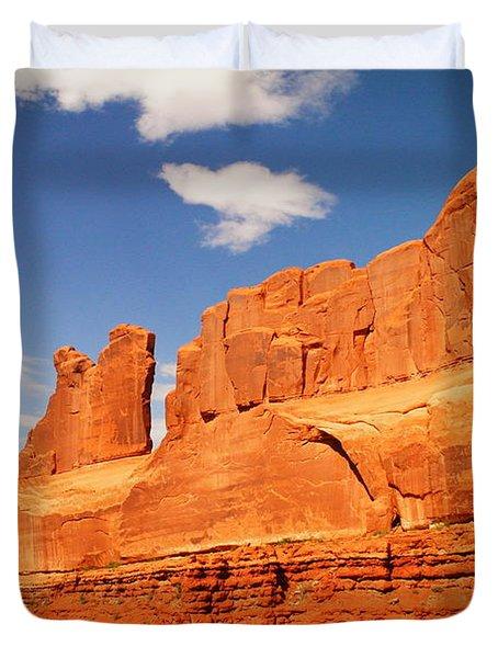 Manhatten In Utah Duvet Cover by Jeff Swan