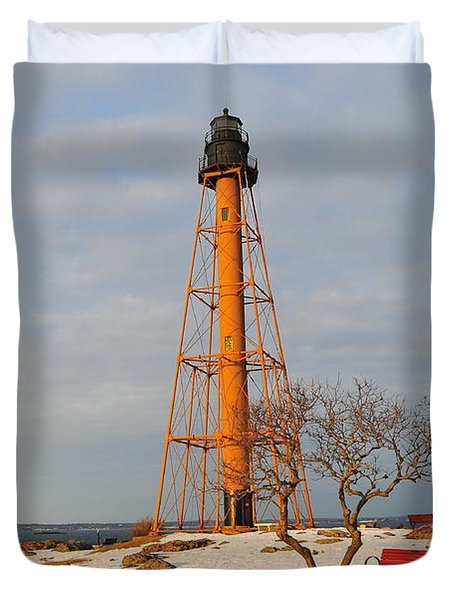 Marblehead Light Duvet Cover by Catherine Reusch  Daley