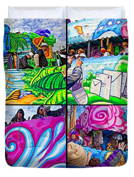 Mardi Gras Fun Duvet Cover by Steve Harrington