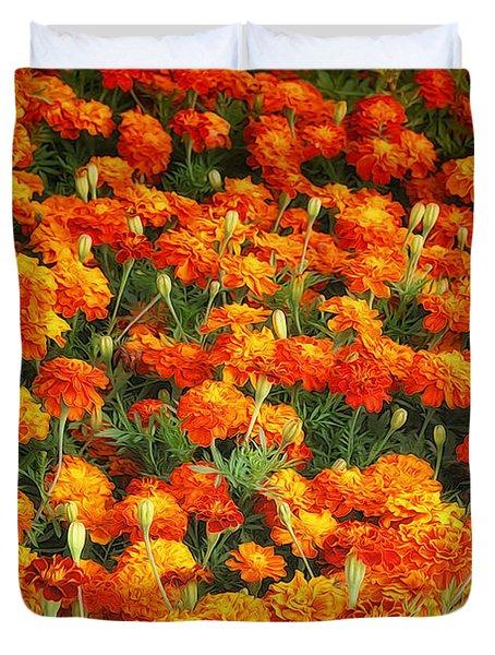 Marigold Duvet Cover by Jutta Maria Pusl