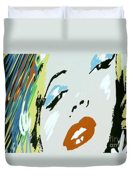 Marilyn In Hollywood Duvet Cover by Micah May