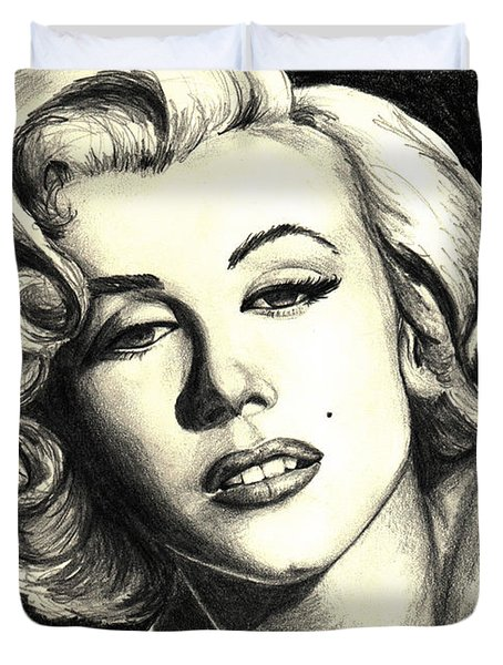 Marilyn Monroe Duvet Cover by Debbie DeWitt