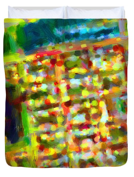 Marina District - San Francisco California Usa - Abstract - Painterly Duvet Cover by Wingsdomain Art and Photography