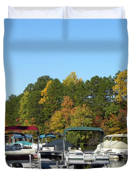 Marina In Fall Duvet Cover by Sandi OReilly