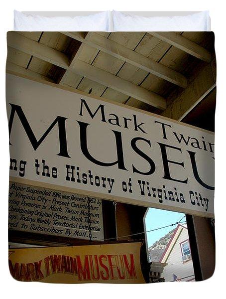 Mark Twian Museum Virginina City Nv Duvet Cover by LeeAnn McLaneGoetz McLaneGoetzStudioLLCcom