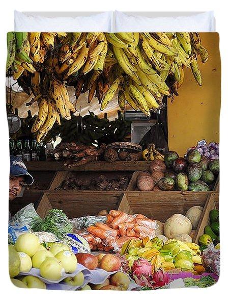 Market Vendor Duvet Cover by Li Newton