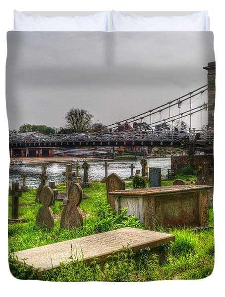 Marlow Bridge From All Saints Graveyard Duvet Cover by Chris Day