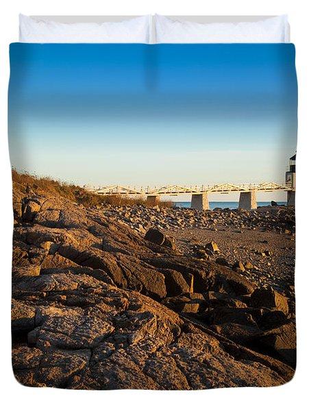 Marshall Point Lighthouse Duvet Cover by Brian Jannsen