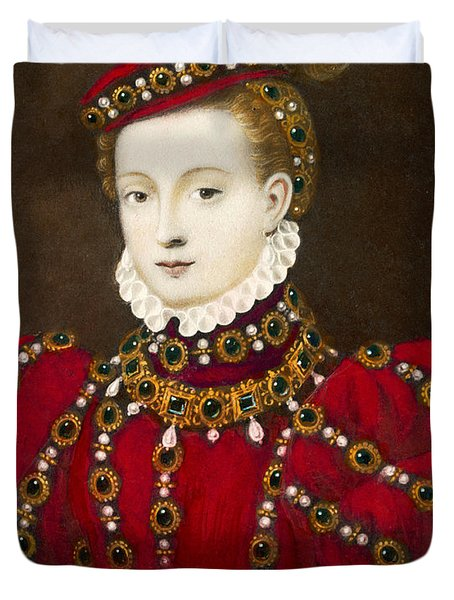 Mary Queen Of Scots Duvet Cover by Mary Evans Picture Library and Photo Researchers