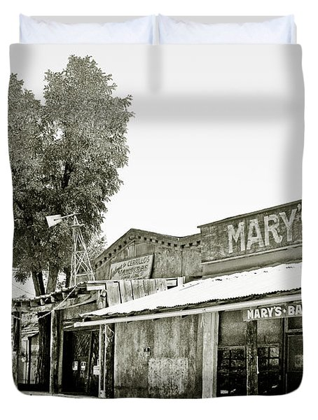 Mary's Bar Cerrillo NM Duvet Cover by Christine Till