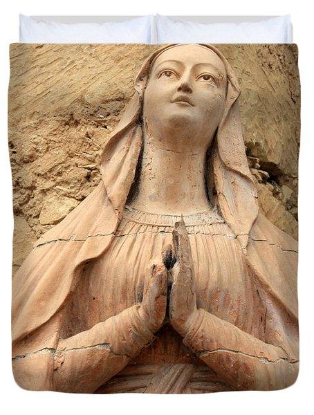 Mary's Prayers Duvet Cover by Carol Groenen