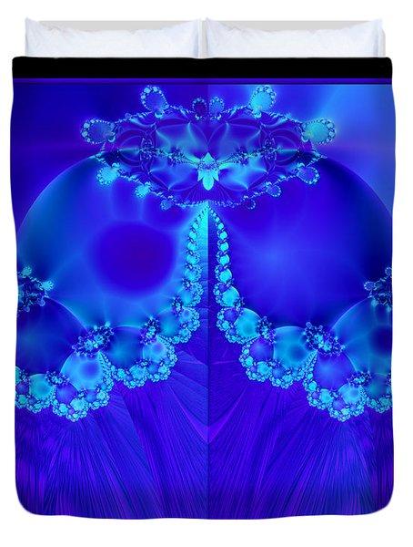 Marys Veil Fractal 60 Duvet Cover by Rose Santuci-Sofranko