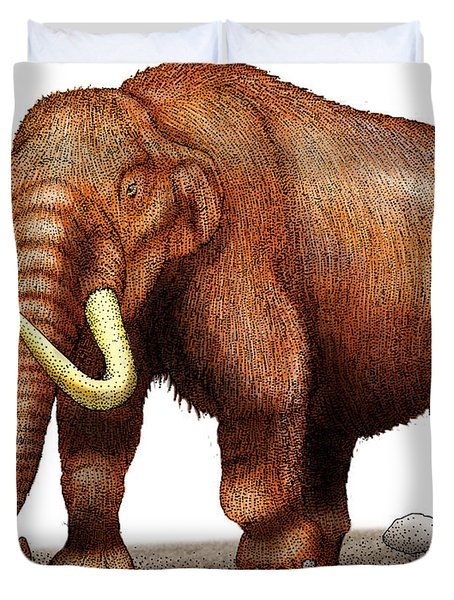 Mastodon Duvet Cover by Roger Hall and Photo Researchers