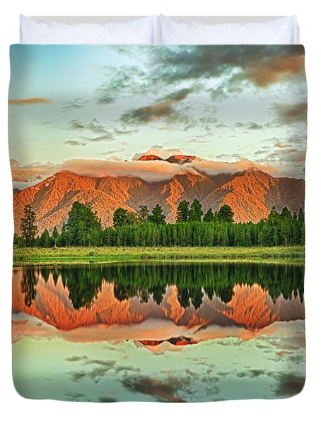 Matheson Lake Duvet Cover by MotHaiBaPhoto Prints