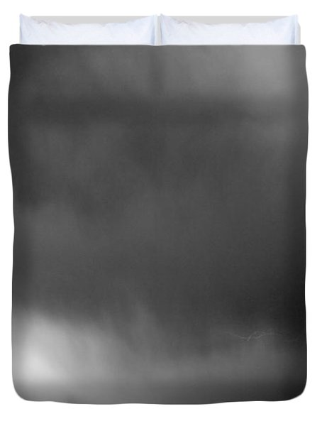 May Showers 3 In Bw - Lightning Thunderstorm 5-10-2011 Boulder C Duvet Cover by James BO  Insogna
