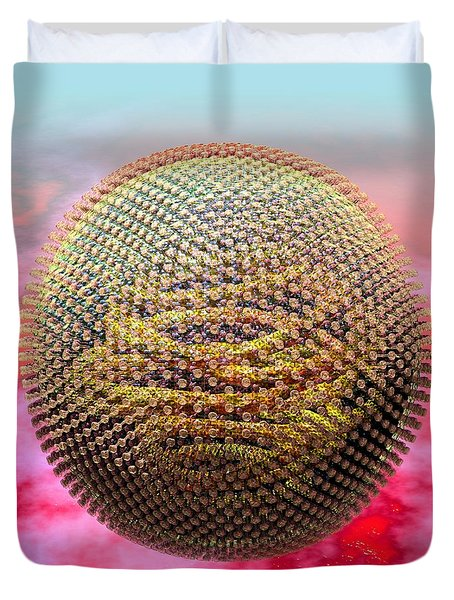 Measles Virus Duvet Cover by Russell Kightley