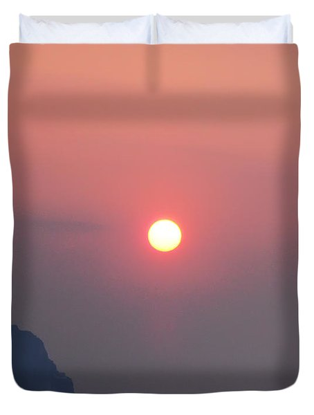 Medaterainian Sunset Duvet Cover by Bill Cannon