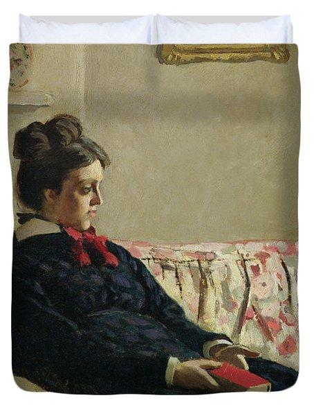Meditation Duvet Cover by Claude Monet