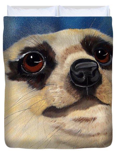 Meerkat Eyes Duvet Cover by Debbie LaFrance