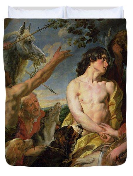 Meleager And Atalanta Duvet Cover by Jacob Jordaens