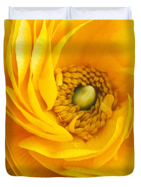 Mellow Yellow Duvet Cover by Kathy Yates