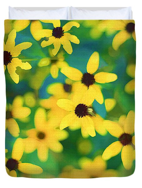 Melody Of Yellow Duvet Cover by Darren Fisher