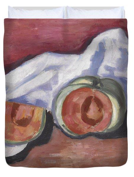 Melons Duvet Cover by Marsden Hartley