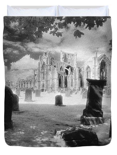 Melrose Abbey Duvet Cover by Simon Marsden