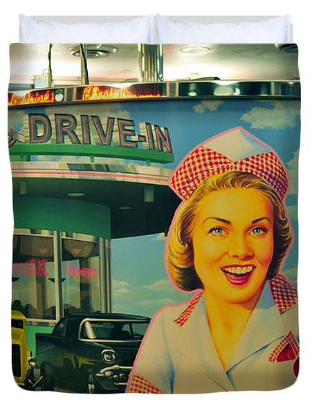 Mels Drive In Duvet Cover by David Lee Thompson