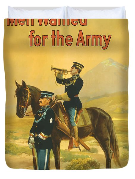 Men Wanted For The Army Duvet Cover by War Is Hell Store